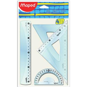 MAPED Zestaw geometryczny (linijka, 2xekierka, kątomierz) 1szt
