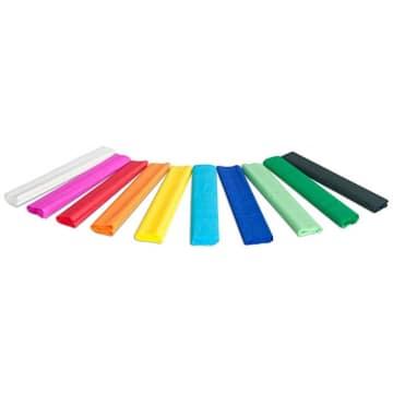 GIMBO Bibuła marszczona w rolce krótka (mix 10 kolorów) 25 x 200cm 1szt