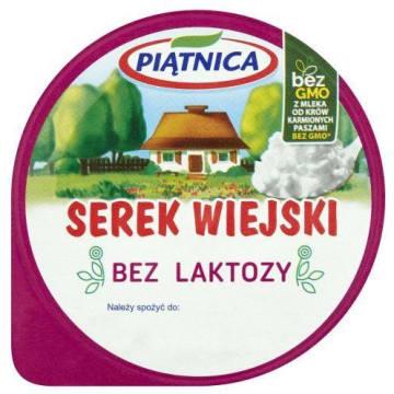 PIĄTNICA Serek wiejski bez laktozy 200g