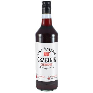 GRZEJNIK Wino czerwone 13% alk 1l