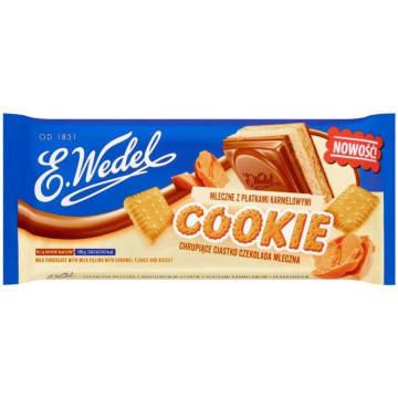 WEDEL Cookie Czekolada mleczna z nadzieniem mlecznym z płatkami karmelowymi 290g