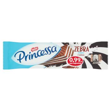 Princessa Wafelek Zebra – Nestle kusi kakaowym wafelkiem i mlecznym nadzieniem.