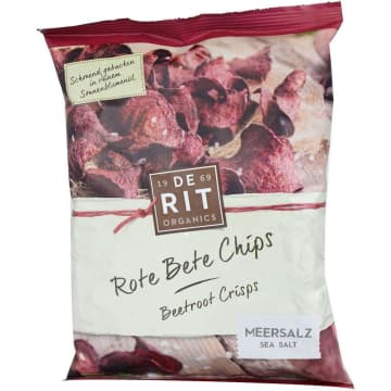 DE RIT Chipsy buraczane z solą morską BIO 75g