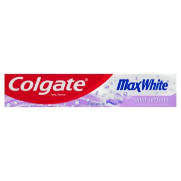 Colgate - Wybielająca pasta do zębów z mikrokryształkami. Pozytywnie oddziałuje na szkliwo.
