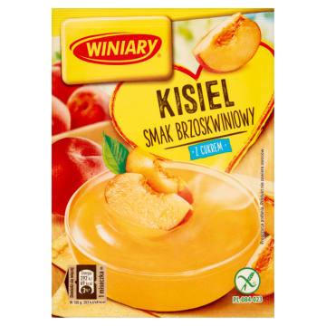 Winiary - Kisiel o smaku brzoskwiniowym. Smaczna przekąska dla całej rodziny.