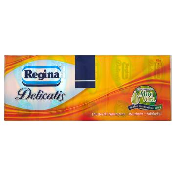 Regina Delicatis- Chusteczki higieniczne Aloe Vera. Działają łagodząco i antybakteryjnie.