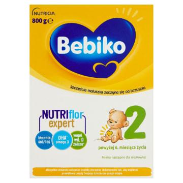 Mleko modyfikowane po 6 miesiącu - Bebiko 2 zawiera prebiotyki i wysoką zawartość wapnia.