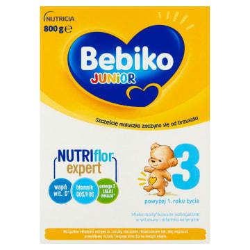Mleko modyfikowane Junior 3 - Bebiko. Pełnowartościowe mleko dla maluchów, które ukończyły 1. rok życia.