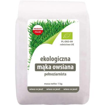 EKOLOGIKO Mąka owsiana pełnoziarnista BIO 1kg