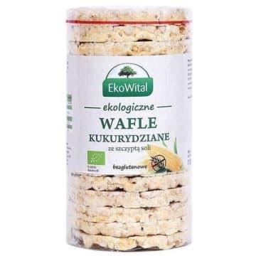 EKO WITAL Wafle kukurydziane z solą bezglutenowe BIO 110g