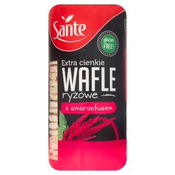 Sante – Wafle ryżowe z amarantusem powstają z brązowego ryżu i są bogatym źródłem białka.