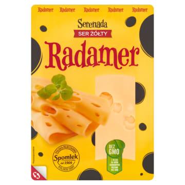 Ser Radamer w plastrach 135g - Serenada. Długo dojrzewający, delikatny ser o lekkiej konsystencji.
