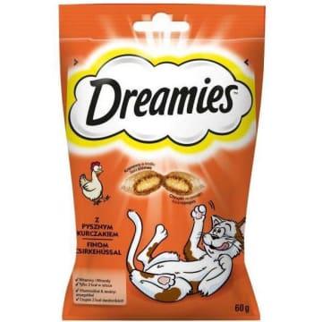 Karma uzupełniająca z kurczakiem dla kotów - Dreamies. Pyszne danie z kurczakiem dla każdego kota.
