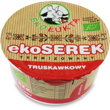 Serek truskawkowy Bio Ekołukta zawiera bogactwo składników odżywczych, w tym białka.