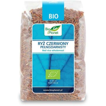 Ryż czerwony pełnoziarnisty BIO 400 g - Bio Planet. Ma wyjątkowy smak i cenne właściwości odżywcze.