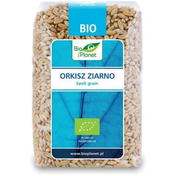 Ziarno orkiszu - Bio Planet. Orkisz to zboż spokrewnione z pszenicą.