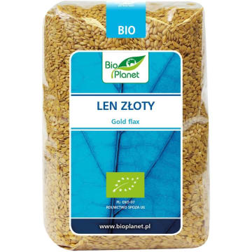 Len złoty - Bio Planet 400g. Ekologiczne simię lniane, nasiona lnu zwyczajnego.