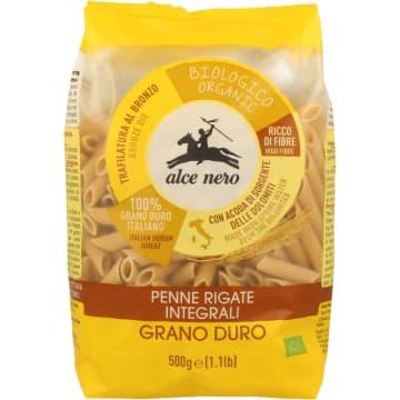 Makaron Razowy Penne - Alce Nero. Zdrowy makaron z mąki najlepszej jakości.