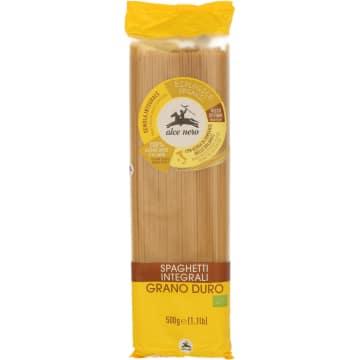 Makaron razowy spaghetti-Alce Nero. Doskonały sposób na przepyszną potrawę.