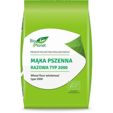 Mąka pszenna razowa typ 2000 BIO, 1000 g - Bio Planet. Pszenica jest popularna na całym świecie.