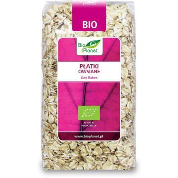 Płatki owsiane – Bio Planet to ekologiczny produkt bogaty w białko, krzem, żelazo i błonnik.