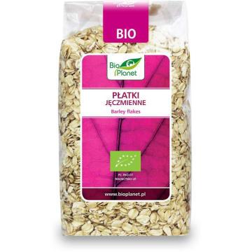 Płatki jęczmienne bio - Bio Planet. Pełne składników odżywczych płatki z pełnego przemiału.