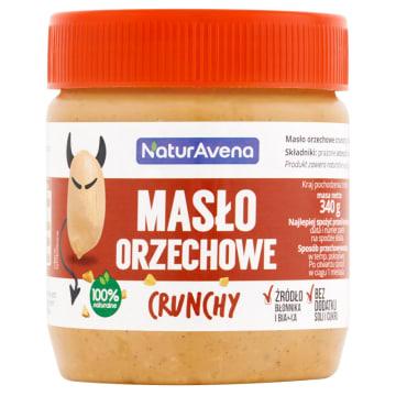NATURAVENA Masło orzechowe crunchy 340g