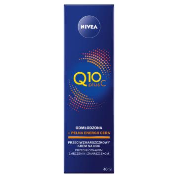 NIVEA Q10 Plus C Krem przeciwzmarszczkowy energetyzujący na noc 40ml