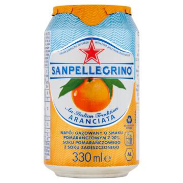 SAN PELLEGRINO Aranciata Napój gazowany o smaku pomarańczowym 330ml