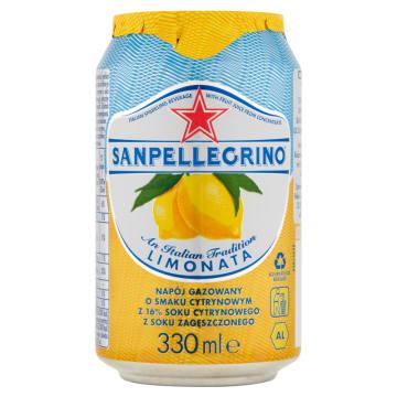 SAN PELLEGRINO Limonata Napój gazowany o smaku cytrynowym 330ml