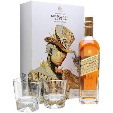 JOHNNIE WALKER Gold Reserve Blend Szkocka whisky + 2 szklanki 700ml