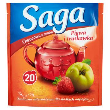 SAGA Herbata ekspresowa  pigwa i  truskawka 20 torebek 1szt