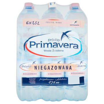 PRIMAVERA Naturalna woda źródlana niegazowana 9l