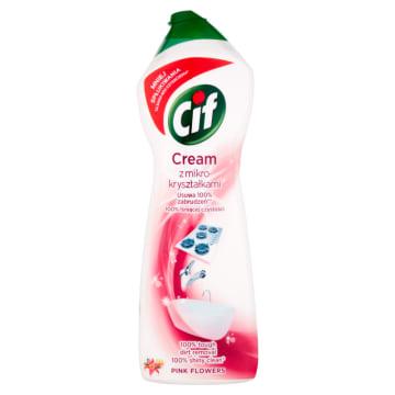 Cif – Mleczko do czyszczenia Pink Flower jest przeznaczone do trudnych do usunięcia zabrudzeń.
