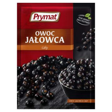 Prymat-Przyprawa owoc jałowca. Słowiańska przyprawa o ostrym, słodko-gorzkim smaku.
