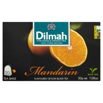 DILMAH Herbata czarna z aromatem mandarynki 20 torebek 30g