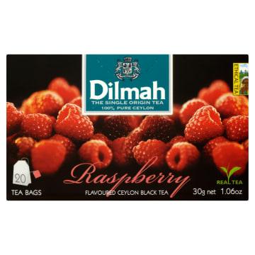 DILMAH Herbata czarna z aromatem z maliny 20 torebek 30g