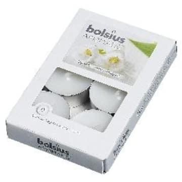 BOLSIUS Świece białe zapach konwalii 6 sztuk 1szt