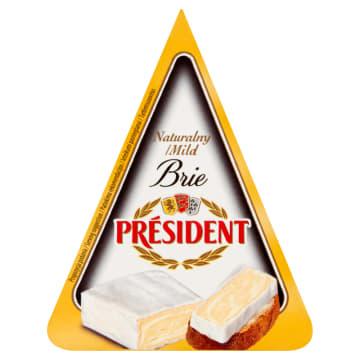 Delikatny ser Brie naturalny - President. To przepyszny ser, który świetnie pasuje do wielu dań.