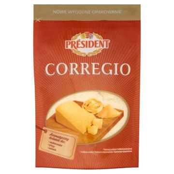 Ser włoski Corregio wiórki - President. Oryginalny smak, wysoka jakość.