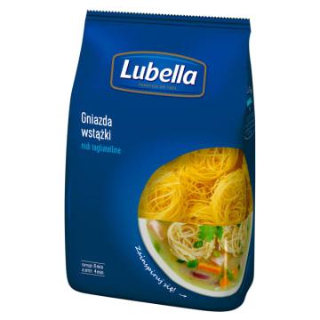Makaron gniazda - wstążki - Lubella. Wytwarzany z pszenicy  Amber Durum, najwyższej jakości.