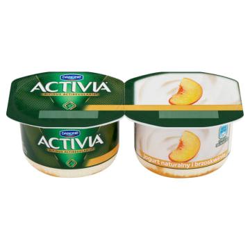 Danone Activia - jogurt z musem brzoskwiniowym. Zawiera szczep bakterii Acti Regularis.