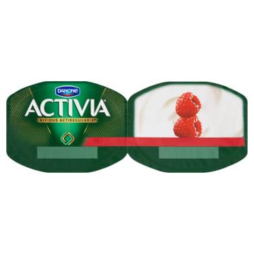 DANONE Activia Jogurt naturalny i maliny 2x120g 240g - wspomaga działanie układu pokarmowego.
