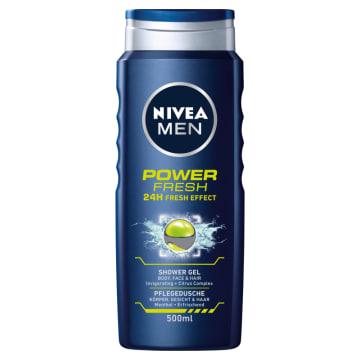 Nivea Men - Żel pod prysznic Power Refresh 500ml. Fantastyczna konsystencja i piękny zapach.
