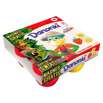 Danone Danonki Mega - Serek truskawkowo-bananowy 4szt. Mleczny przysmak wszystkich dzieci.