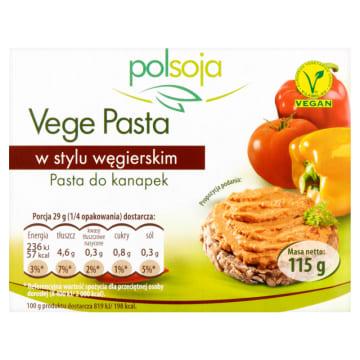 Pasta sojowa węgierska Vege - Polsoja. Polska soja prosto z natury.