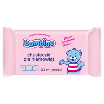 Bambino - Chusteczki dla niemowląt mogą być używany od pierwszego dnia życia. Są łagodne dla skóry.