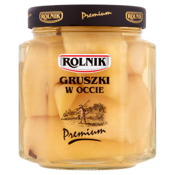 Rolnik - Gruszki w occie dzięki dobranym składnikom, posiadają niepowtarzalny smak.