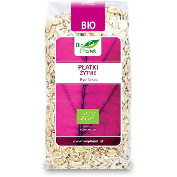 Płatki żytnie Bio - Bio Planet. Zdrowa i ekoloficzna przekąska.
