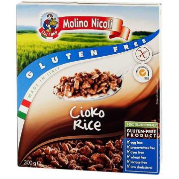 Bezglutenowe chrupki ryżowe czekoladowe - Molino Nicoli